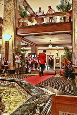 Photograph - Peabody Hotel Ducks - Memphis by Allen Beatty
