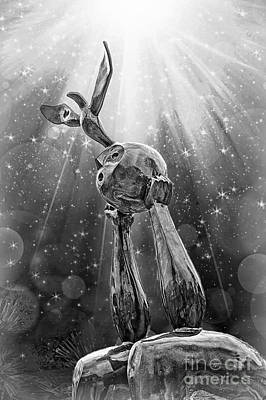 Digital Art - Peace And Enlightenment B/w by Ian Gledhill
