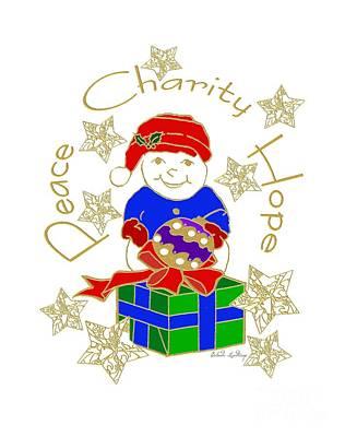Mixed Media - Peace Charity Hope by Belinda Landtroop