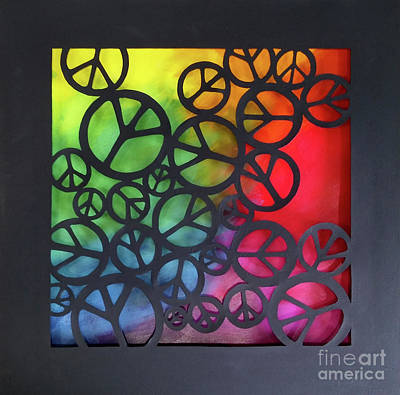 Mixed Media - Peace Out by Phyllis Howard
