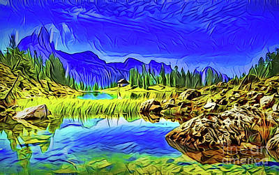 Painting - Peaceful A18-16 by Ray Shrewsberry