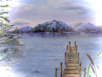 Painting - Peaceful Cattails by Sandra Day