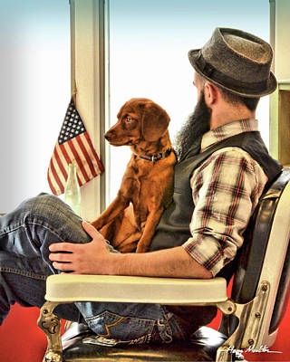 Photograph - Peaceful Day At The Barbershop by Harry Moulton