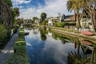 Wall Art - Photograph - Peaceful Day On The Venice Canals by Roslyn Wilkins