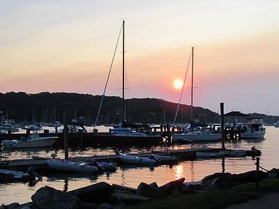 Photograph - Peaceful Harbor by SJ Lindahl