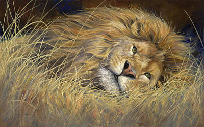 Painting - Peaceful King by Lucie Bilodeau