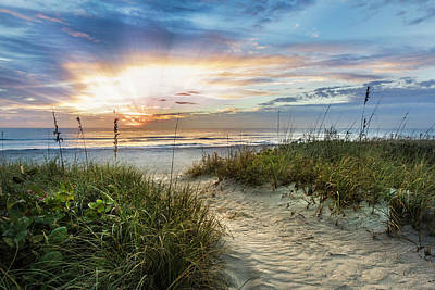 Photograph - Peaceful Morning On The Dunes by Debra and Dave Vanderlaan