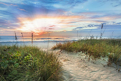 Photograph - Peaceful Morning On The Dunes Painting by Debra and Dave Vanderlaan