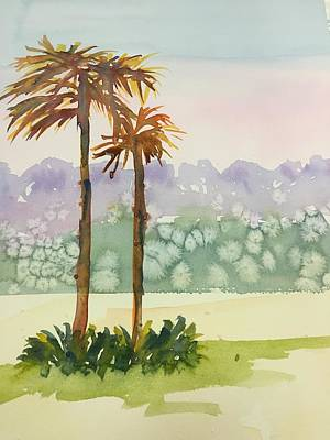 Wall Art - Painting - Peaceful Palms by Elaine Marie