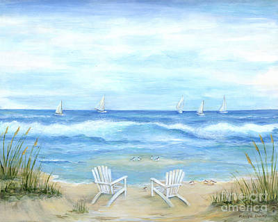 Wall Art - Painting - Peaceful Seascape by Marilyn Dunlap