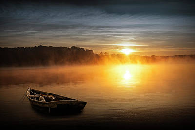 Photograph - Peaceful Sunrise Over A Lake by Randall Nyhof