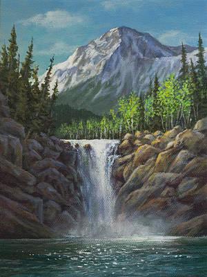 Painting - Peaceful Waterfall by Kim Lockman