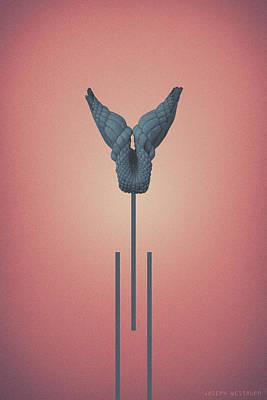 Photograph - Peach Vitium - Abstract Geometric Jawbone Art by Joseph Westrupp