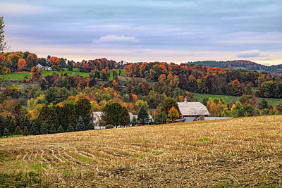 Photograph - Peacham Vermont Farm by Jeff Folger