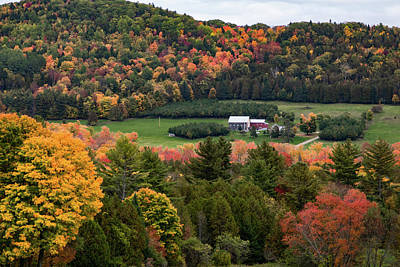 Photograph - Peacham Vermont Farm On A Hill by Jeff Folger