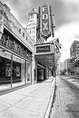 Peachtree Street And The Fox Theatre - Atlanta Art Print