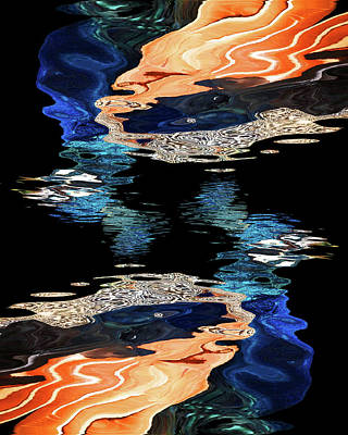 Photograph - Peacock Abstract Reflections by Gill Billington