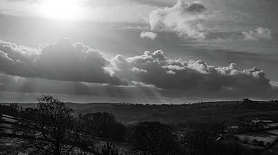 Photograph - Peak District From Black Rocks In Monochrome by Scott Lyons