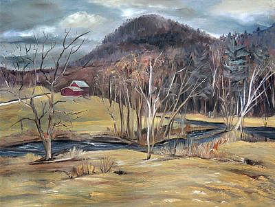 Painting - Peaked Mountain Valley In Piermont New Hampshire  by Nancy Griswold