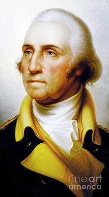 Painting - Peale Portrait Of George Washington  by Rembrandt Peale