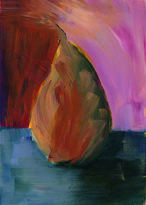 Painting - Pear #2 by Mary Elizabeth Thompson