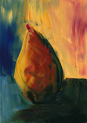Painting - Pear #3 by Mary Elizabeth Thompson