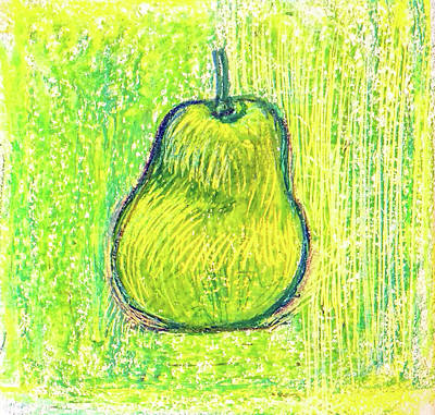 Still Life Drawings - Pear by Asha Sudhaker Shenoy