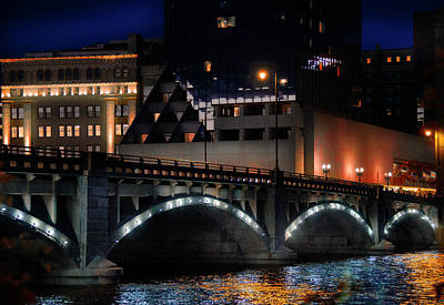 Photograph - Pearl Street Bridge Grand Rapids  by Evie Carrier