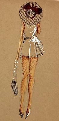 Drawing - Pearls And Legs by C F Legette