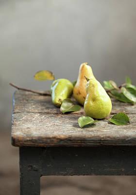 Autumn Photograph - Pears by Sanjeri