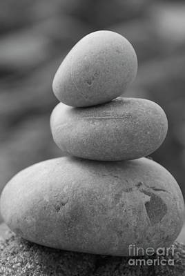 Photograph - Pebbles In Black And White by Jenny Potter