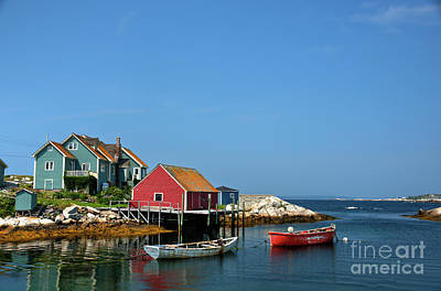 Photograph - Peggy's Cove In Summer by Jean Hutchison