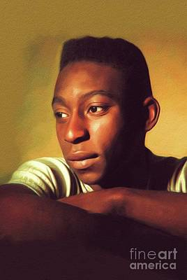 Athletes Royalty-Free and Rights-Managed Images - Pele, Famous Footballer by John Springfield