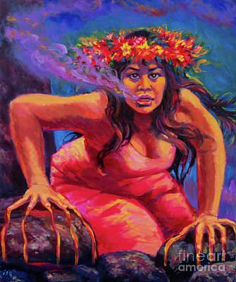 Painting - Pele Rises Again by Isa Maria
