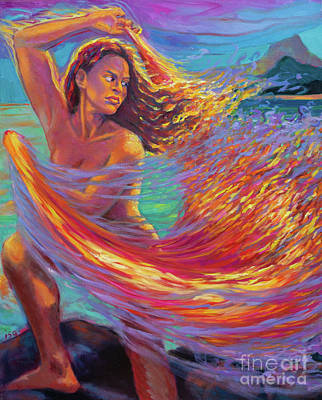 Painting - Pele Dances w/ Veil of Fire by Isa Maria