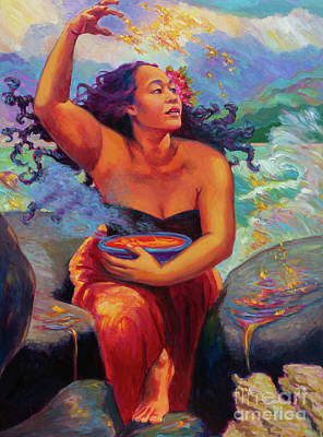 Painting - Pele with Bowl of Lava by Isa Maria