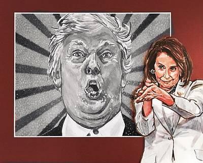 Painting - Pelosi Clap by Joel Tesch