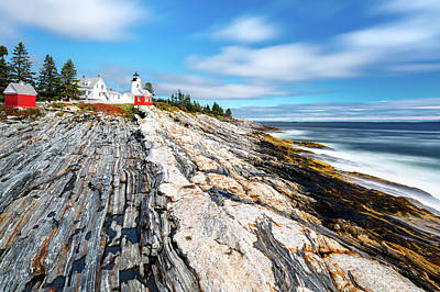 Photograph - Pemaquid Point Light In Maine by Mihai Andritoiu