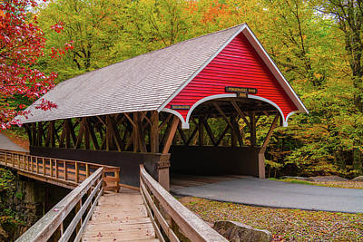 Photograph - Pemigewasset River Covered Bridge by James Billings