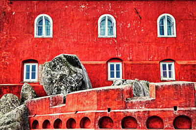 Photograph - Pena Palace Exterior Wall - Portugal by Stuart Litoff