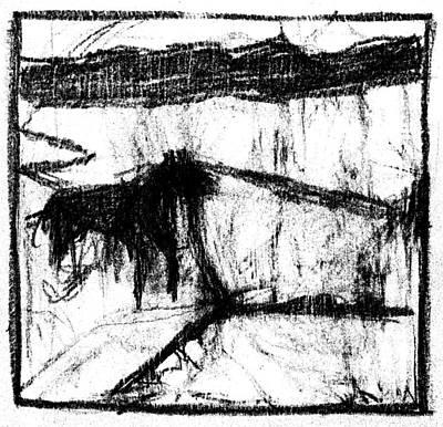 Digital Art - Pencil Squares Black Farm A by Artist Dot