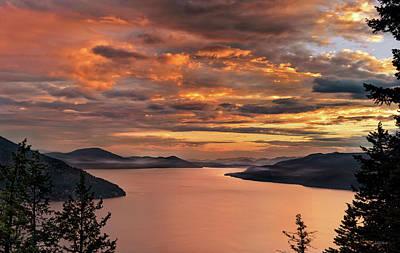 Photograph - Pend Oreille Sunrise by Leland D Howard