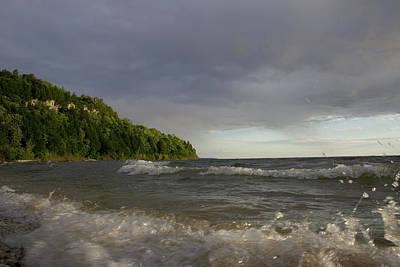 Photograph - Peninsula Light Break Wave Splash by Dylan Punke