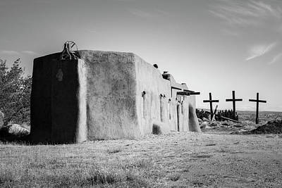 Photograph - Penitente Morada  Abiquiu Bw by David Gordon