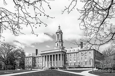 Photograph - Penn State University Old Main Side View by University Icons