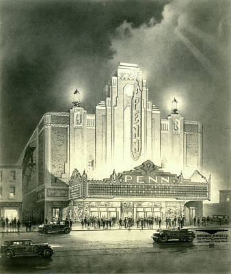 Photograph - Penn Theatre by Mitchell Studios