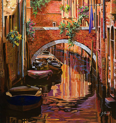 Painting Rights Managed Images - pennellate viola a Venezia Royalty-Free Image by Guido Borelli