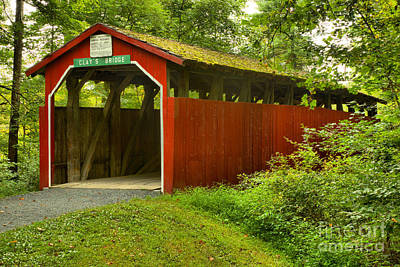 Photograph - Pennsylvania Clay's Covered Bridge by Adam Jewell