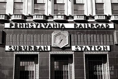Photograph - Pennsylvania Railroad Suburban Station Philadelphia by John Rizzuto