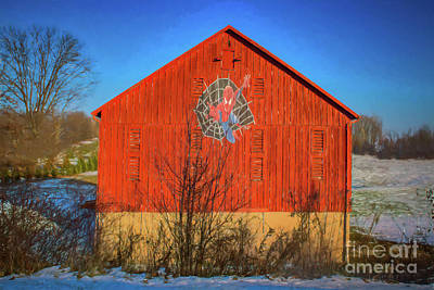 Caravaggio - Pennsylvania Red Spider Man Barn by Janice Pariza